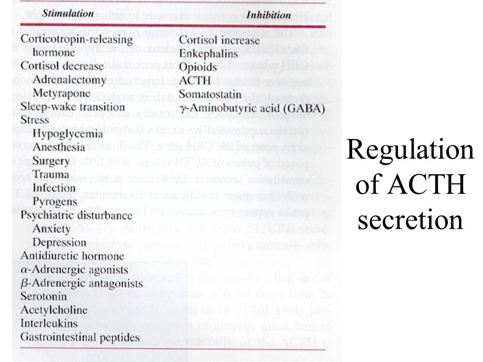 Regulation of ACTH secretion