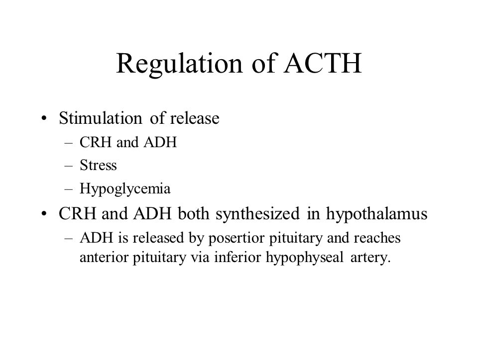 Regulation of ACTH Stimulation of release
