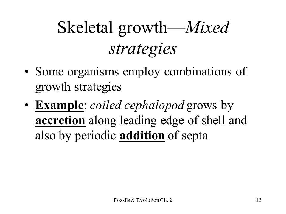 Skeletal growth—Mixed strategies