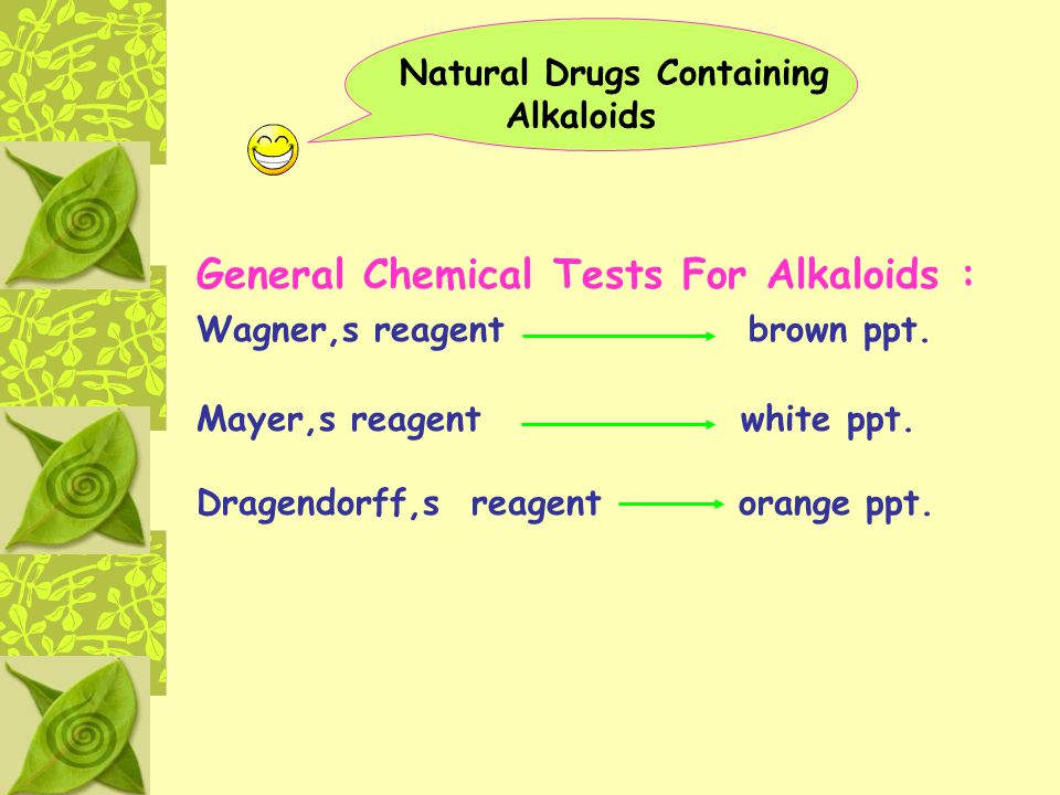 General Chemical Tests For Alkaloids :
