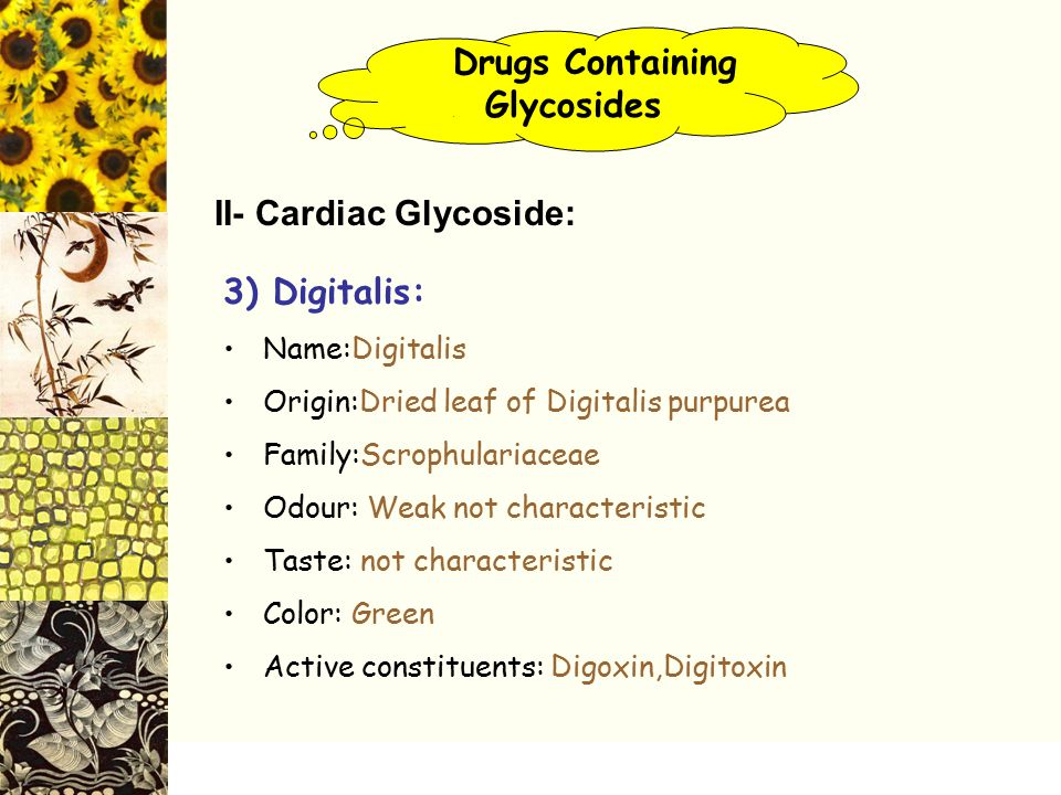 Drugs Containing . Glycosides