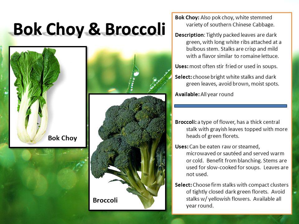 Bok Choy & Broccoli Bok Choy Broccoli