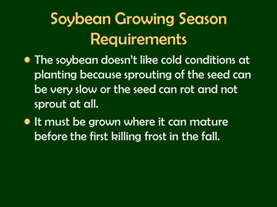 Soybean Growing Season Requirements