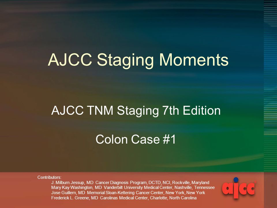 AJCC TNM Staging 7th Edition Colon Case #1