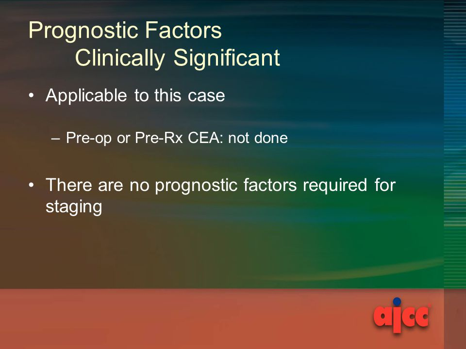 Prognostic Factors Clinically Significant