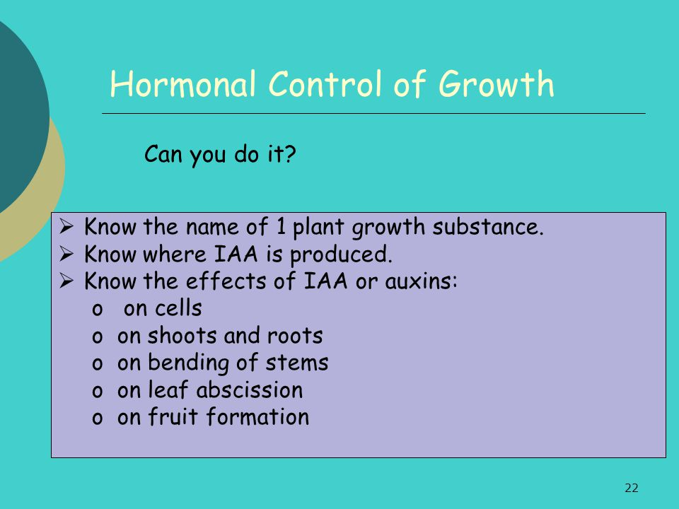 Hormonal Control of Growth