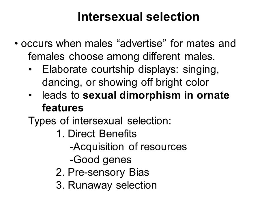 Intersexual selection