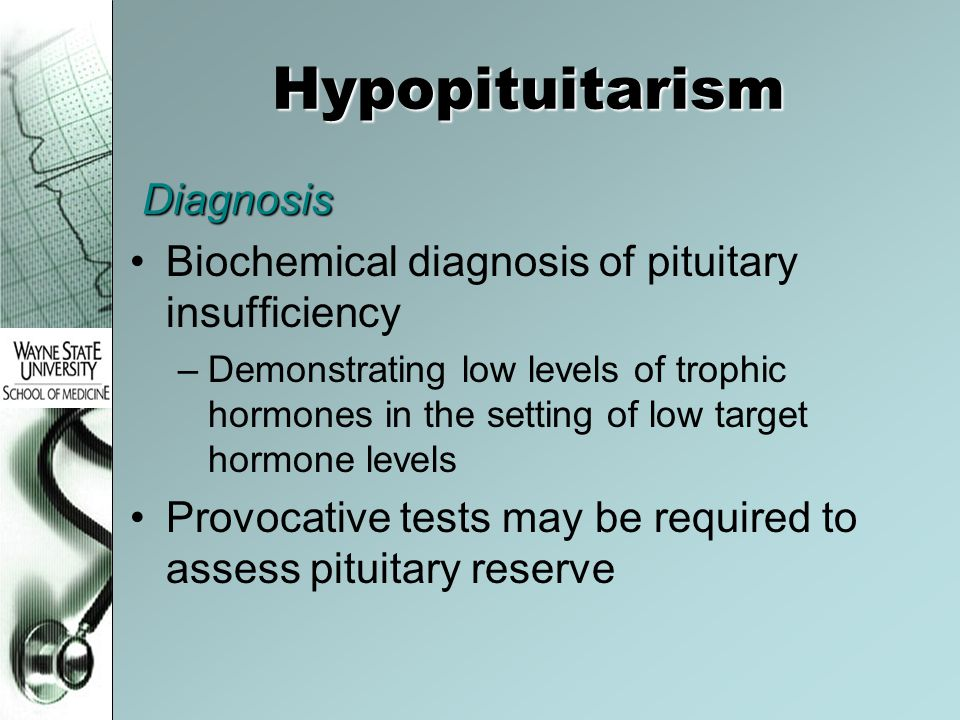 Hypopituitarism Diagnosis