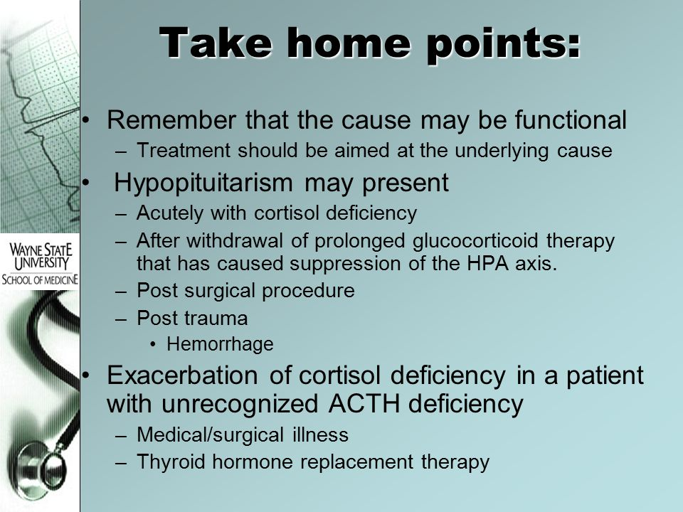 Take home points: Remember that the cause may be functional