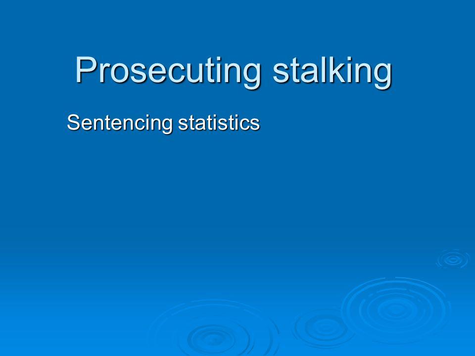 Sentencing statistics