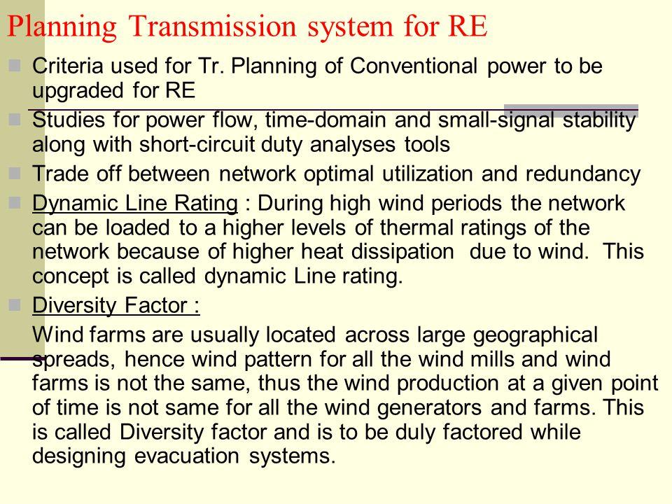 Planning Transmission system for RE