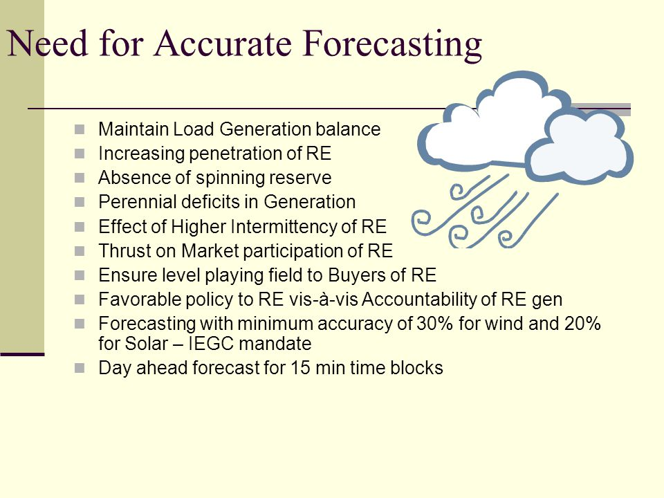 Need for Accurate Forecasting
