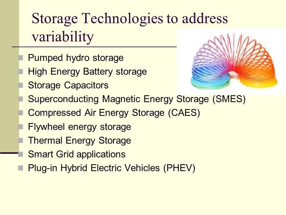 Storage Technologies to address variability