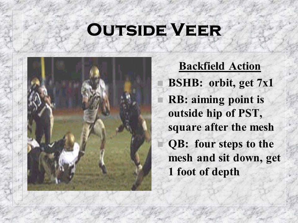 Outside Veer Backfield Action BSHB: orbit, get 7x1