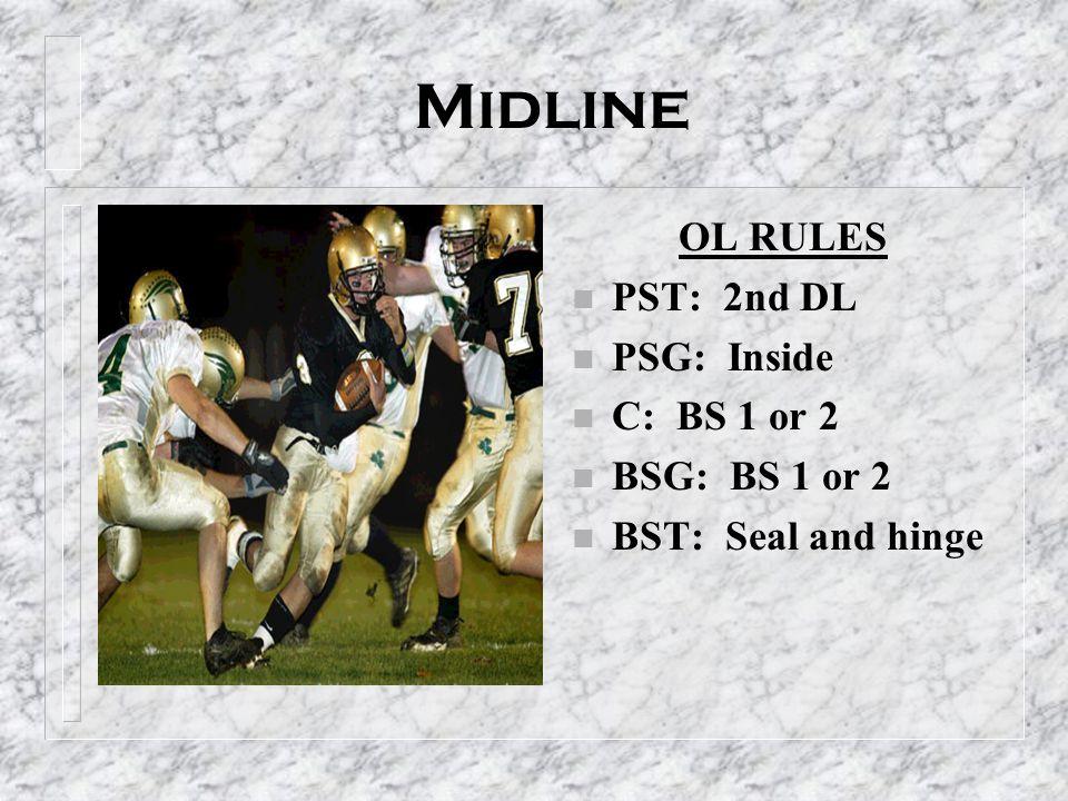 Midline OL RULES PST: 2nd DL PSG: Inside C: BS 1 or 2 BSG: BS 1 or 2