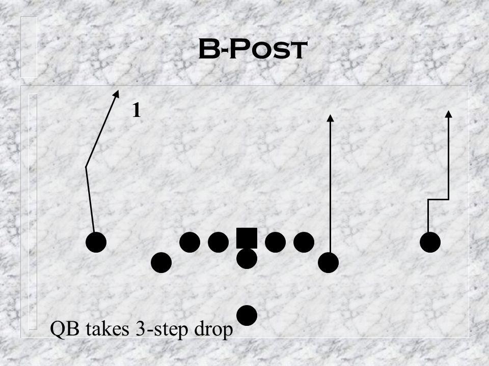 B-Post 1 QB takes 3-step drop