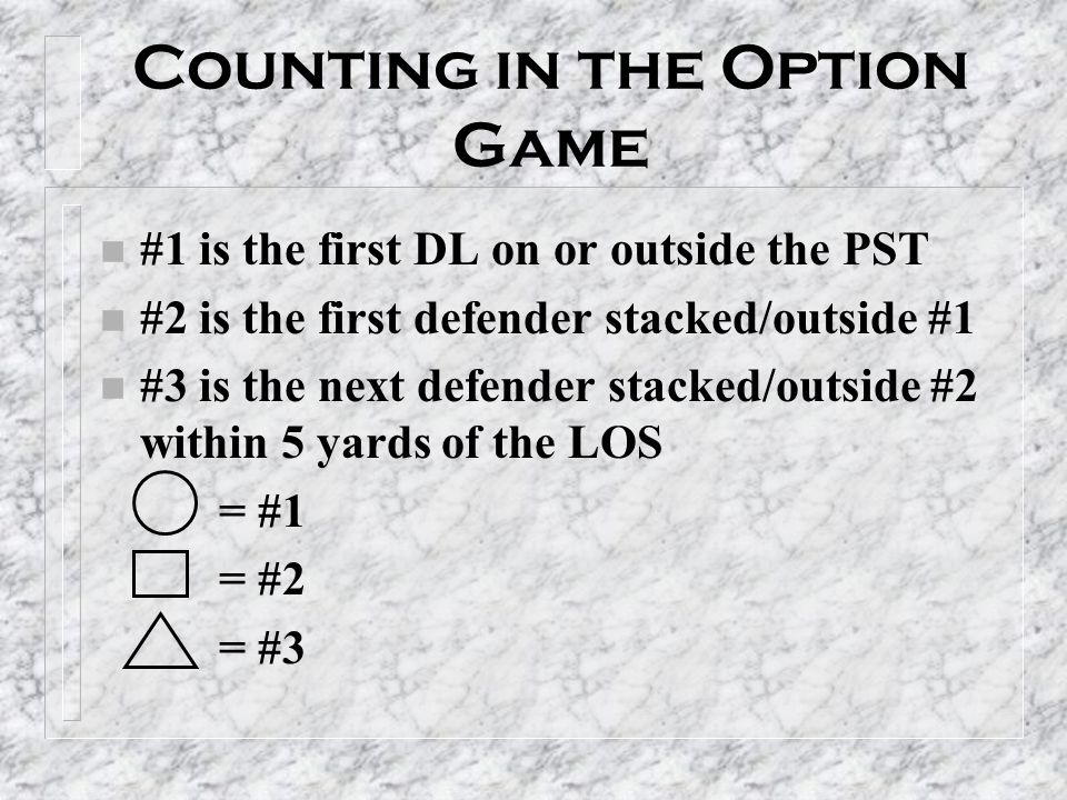 Counting in the Option Game