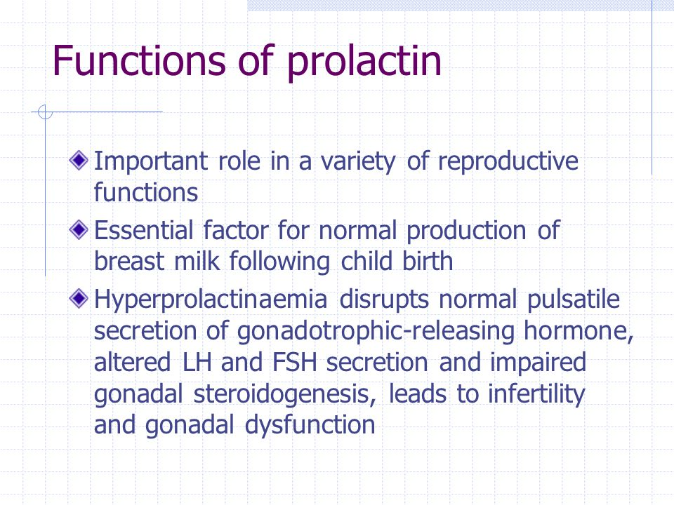 Functions of prolactin
