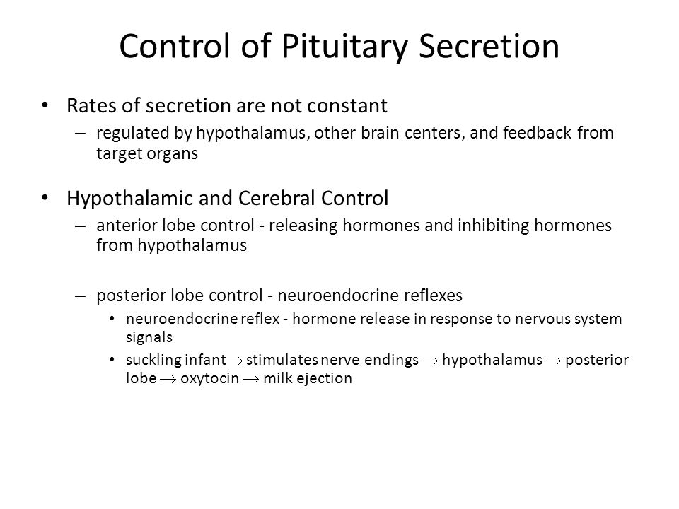 Control of Pituitary Secretion