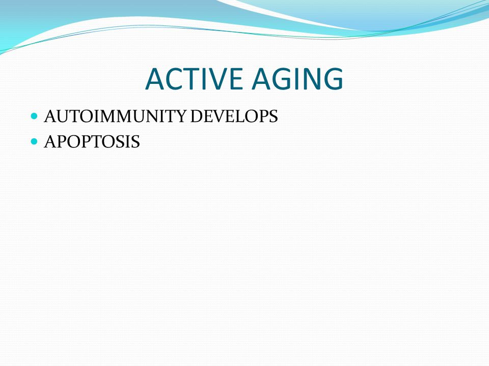 ACTIVE AGING AUTOIMMUNITY DEVELOPS APOPTOSIS