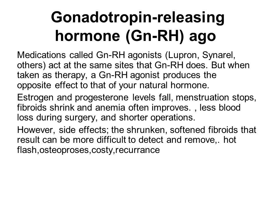 Gonadotropin-releasing hormone (Gn-RH) ago