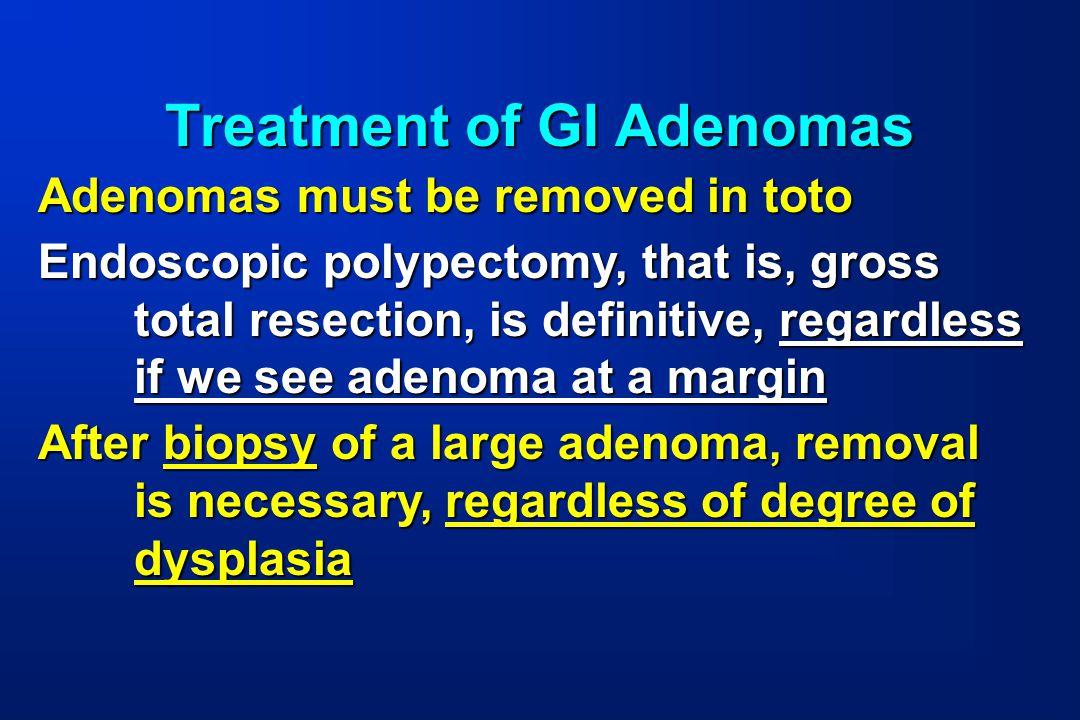 Treatment of GI Adenomas