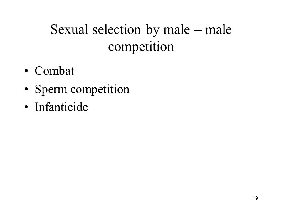 Sexual selection by male – male competition