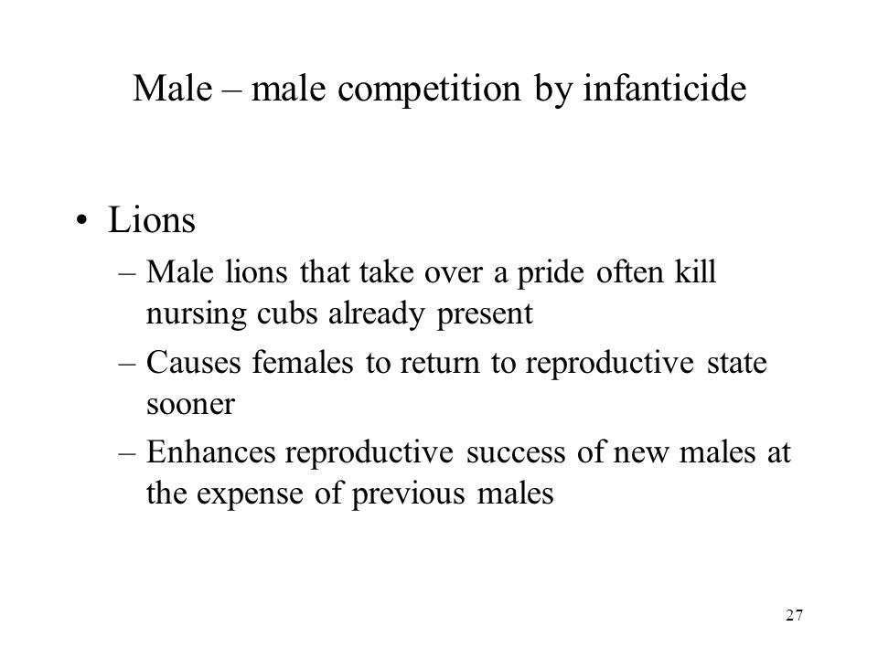 Male – male competition by infanticide