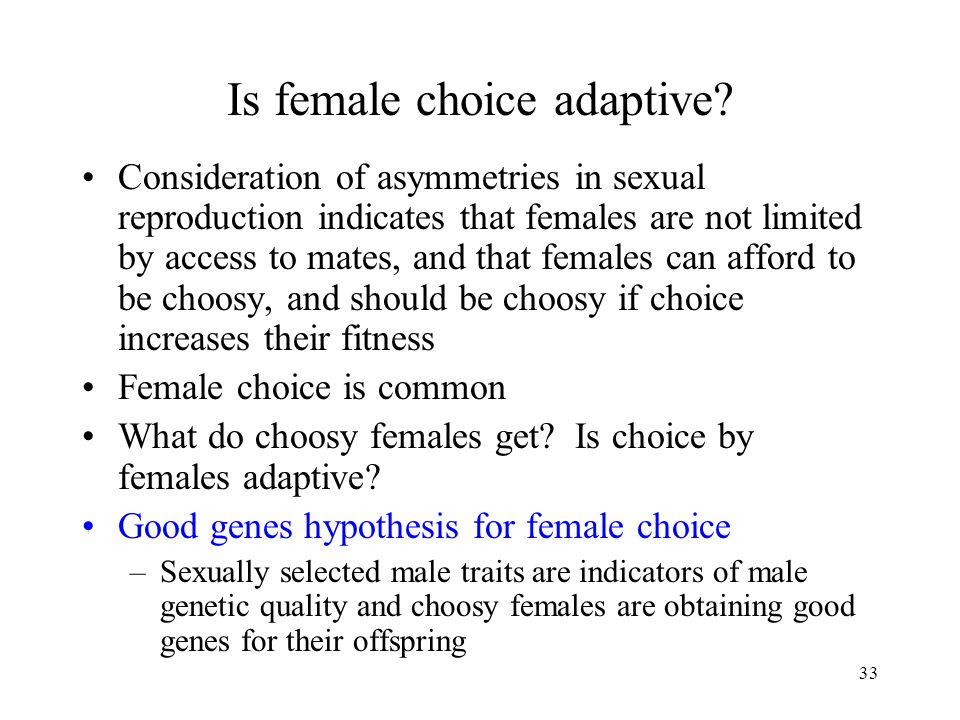 Is female choice adaptive