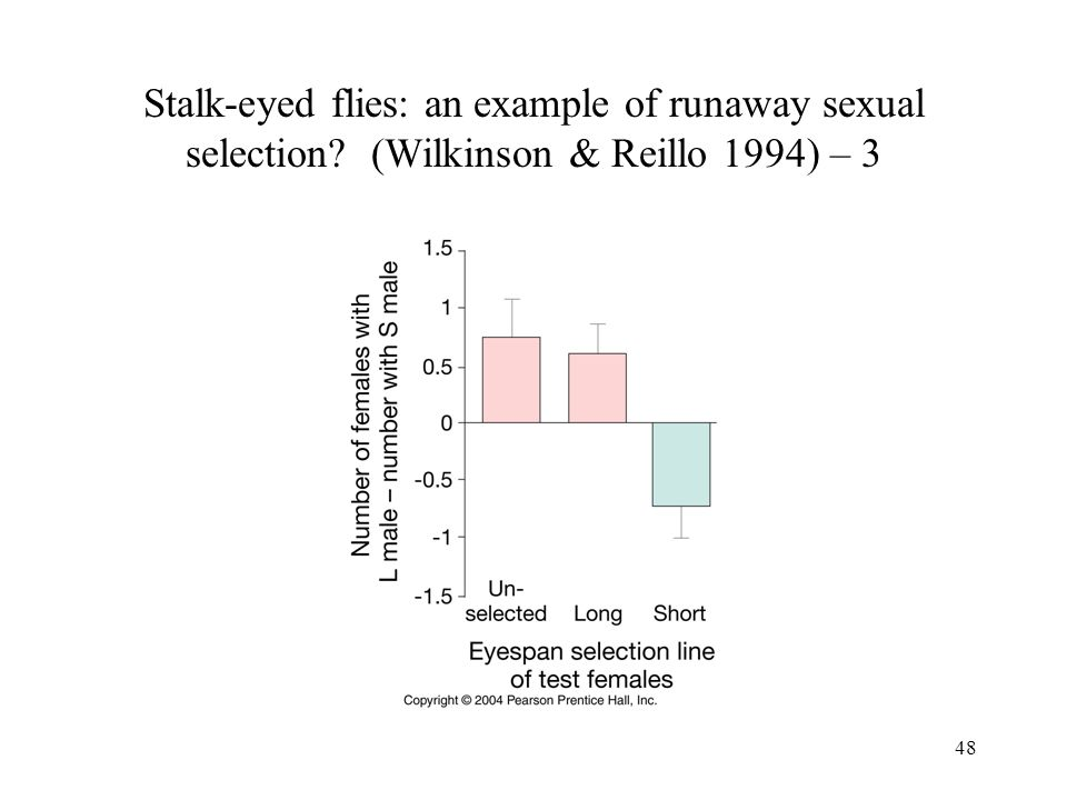 Stalk-eyed flies: an example of runaway sexual selection