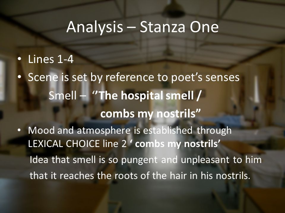 Analysis – Stanza One Lines 1-4