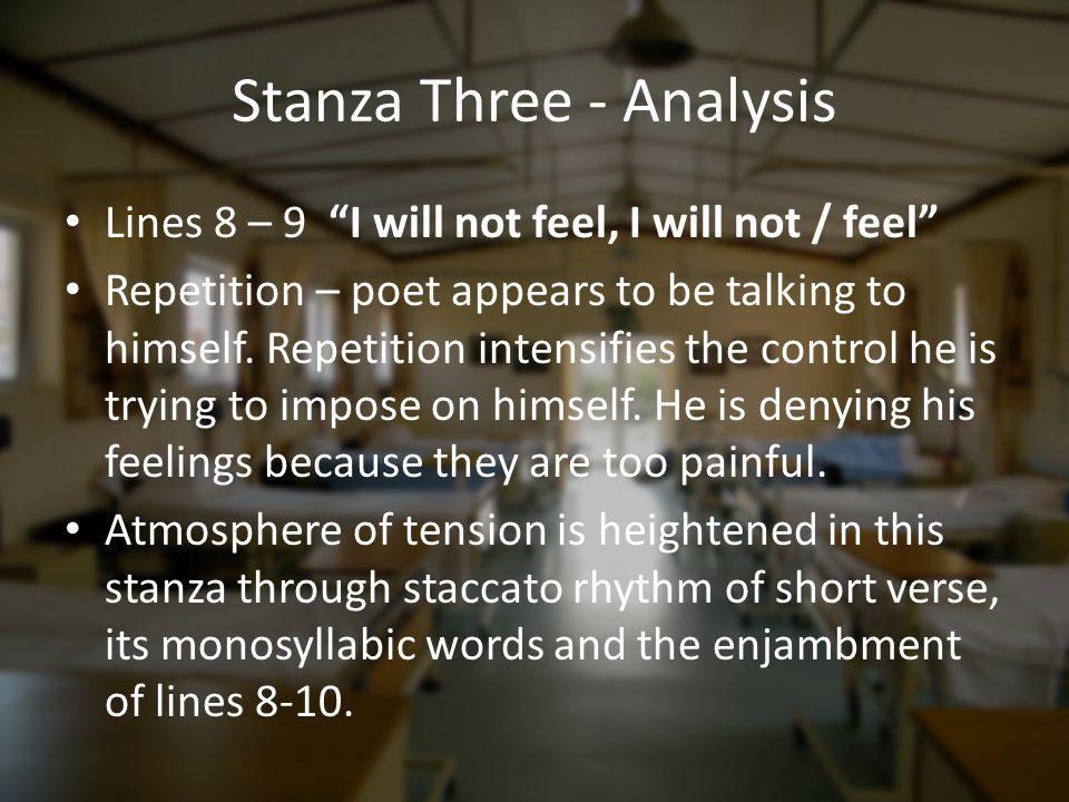 Stanza Three - Analysis