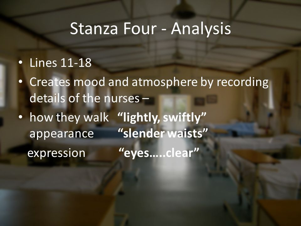 Stanza Four - Analysis Lines 11-18