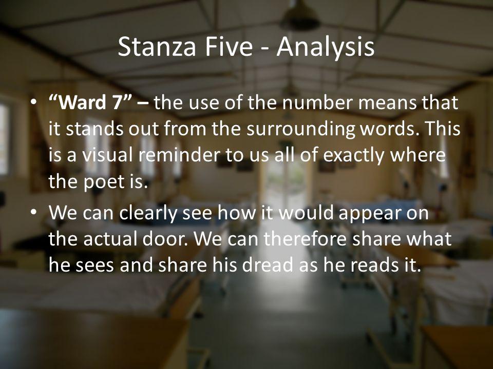 Stanza Five - Analysis