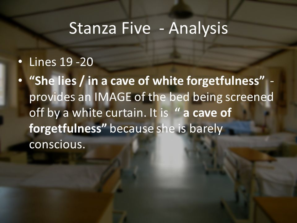 Stanza Five - Analysis Lines 19 -20