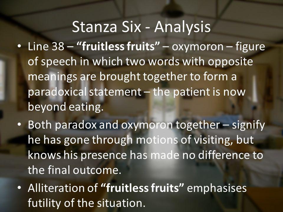 Stanza Six - Analysis