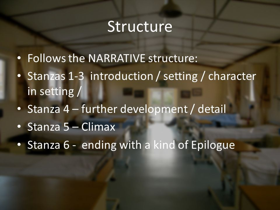 Structure Follows the NARRATIVE structure:
