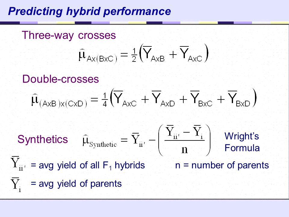 Predicting hybrid performance