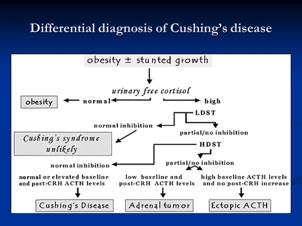 Differential diagnosis of Cushing's disease