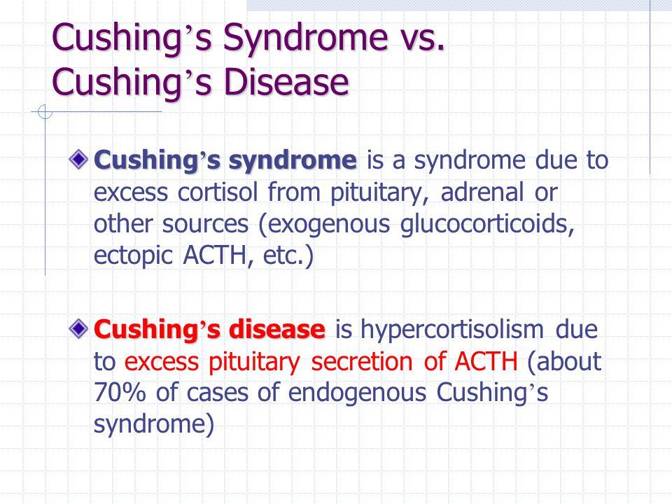 Cushing's Syndrome vs. Cushing's Disease