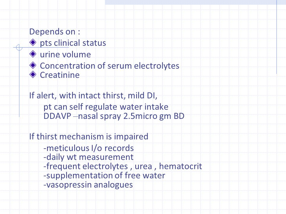 Depends on : pts clinical status. urine volume. Concentration of serum electrolytes. Creatinine.