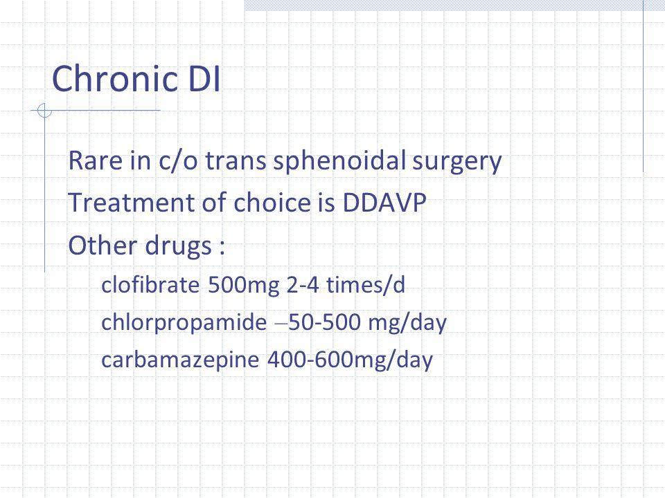 Chronic DI Rare in c/o trans sphenoidal surgery