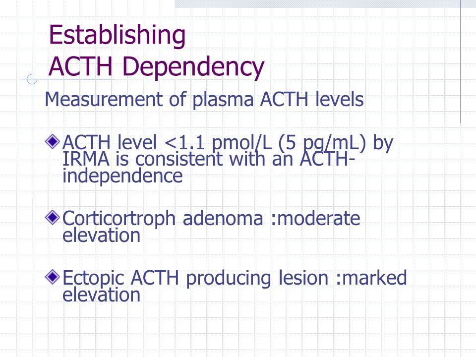 Establishing ACTH Dependency