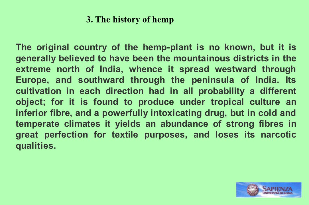 3. The history of hemp