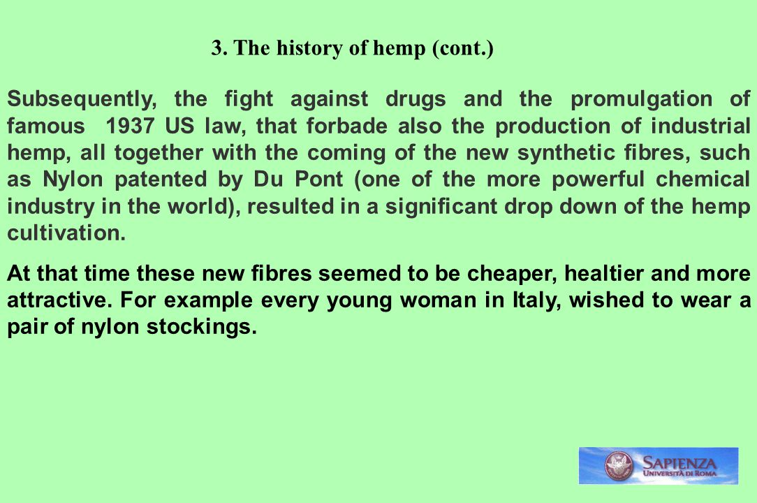 3. The history of hemp (cont.)