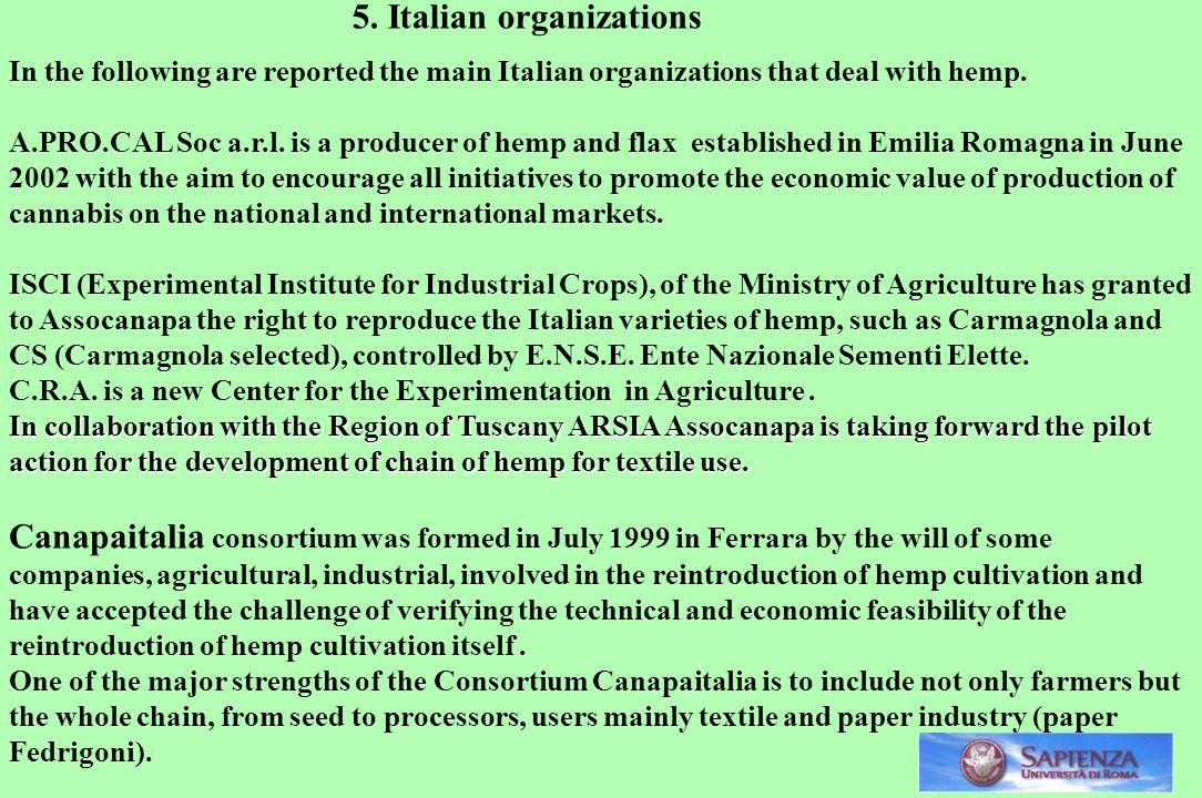 5. Italian organizations