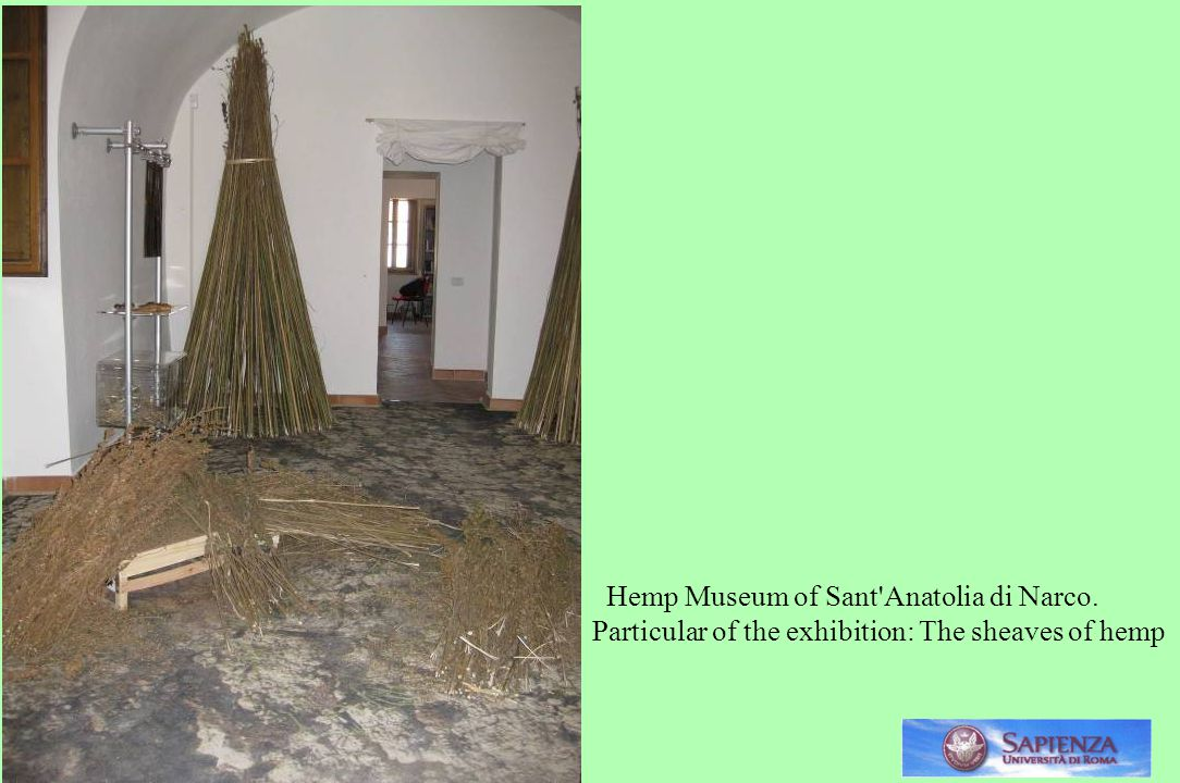 . Hemp Museum of Sant Anatolia di Narco.