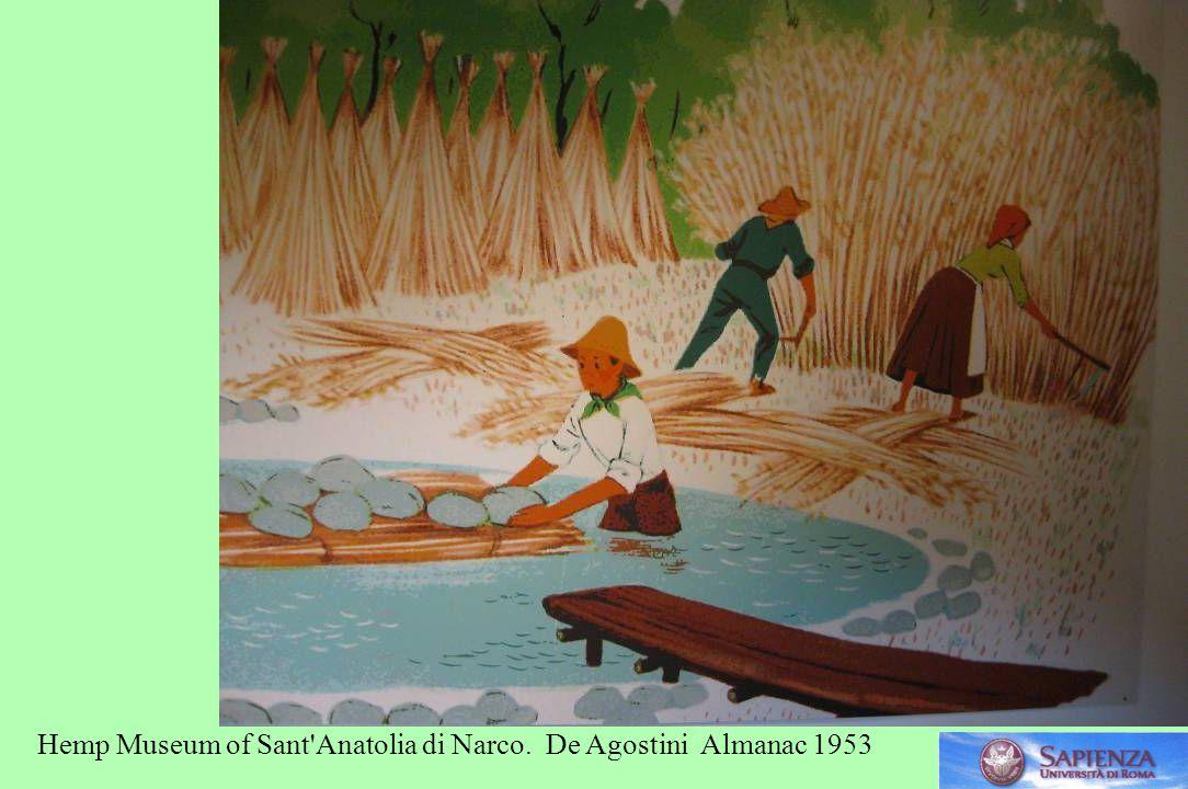 Hemp Museum of Sant Anatolia di Narco. De Agostini Almanac 1953