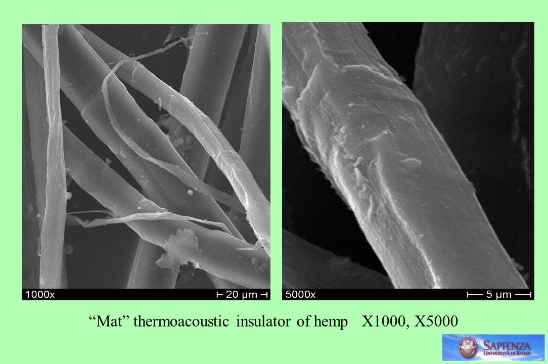Mat thermoacoustic insulator of hemp X1000, X5000