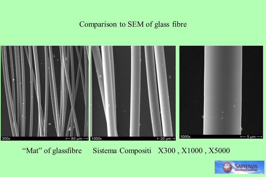 Comparison to SEM of glass fibre